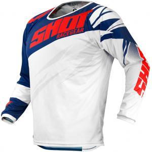 Dětský motokrosový dres Shot Devo Ventury modro-červeno-bílý