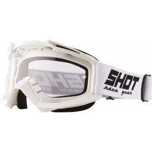 Motokrosové brýle Shot Assault Solid bílé