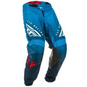 Motokrosové kalhoty FLY Racing Kinetic K220 modro-bílo-červené
