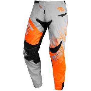 Motokrosové kalhoty Shot Contact Trust šedo-černo-fluo oranžové