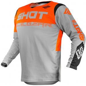 Motokrosový dres Shot Contact Trust šedo-černo-fluo oranžový