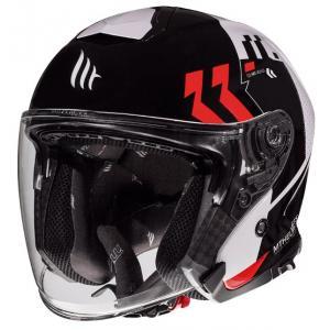 Otevřená přilba na motorku MT Thunder 3 SV Venus černo-bílo-červená