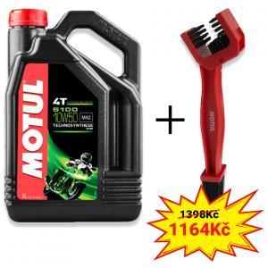 Sada olej 5100 Ester 10W-50 4L+ kartáč na čištění řetězu Motul