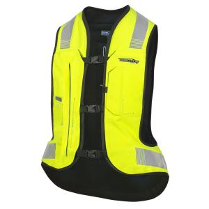 Elektronická airbagová vesta HELITE e-Turtle fluo žlutá