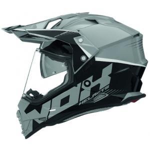 Enduro přilba NOX N312 Crow černo-šedá