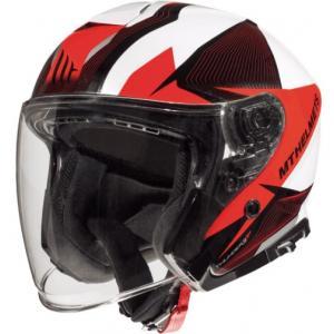 Otevřená přilba na motorku MT Thunder 3 SV Wing černo-bílo-červená