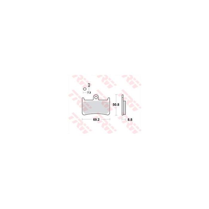 Brzdové destičky přední TRW/Lucas-Yamaha MCB611