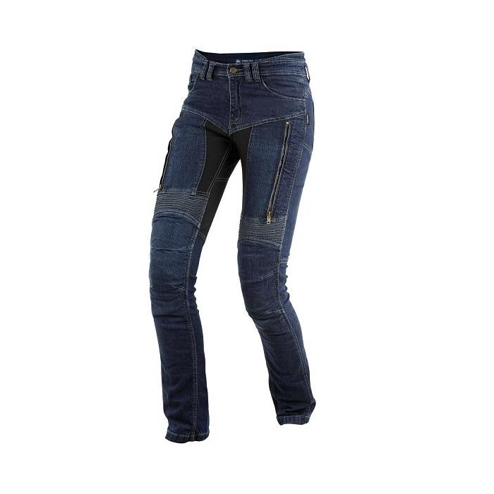Dámské kevlarové jeansy na motorku Trilobite prodl. verze