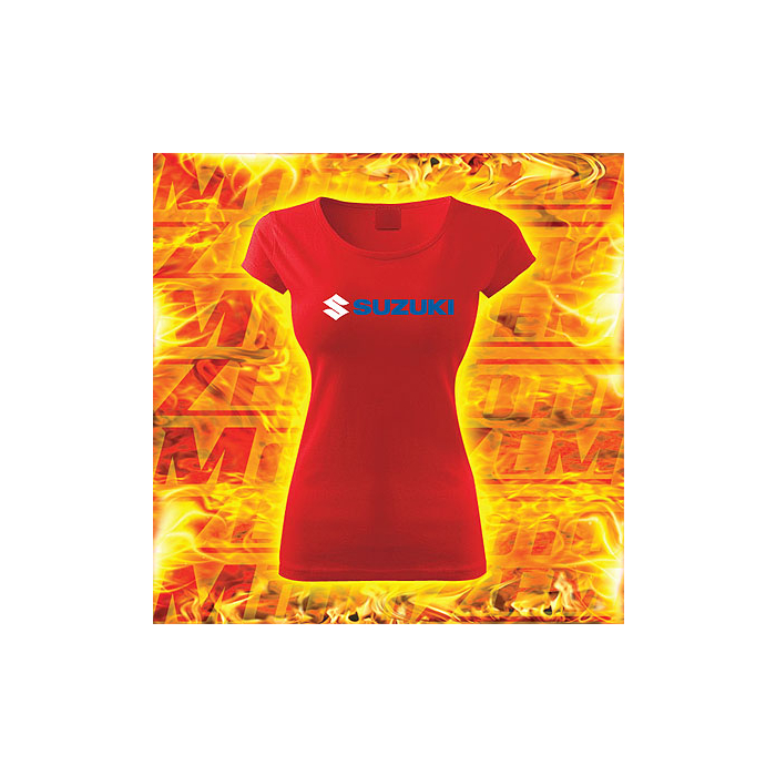 Dámské triko s motivem Suzuki červené