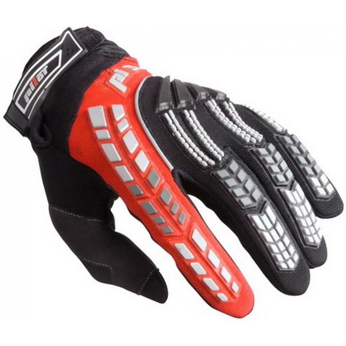 Dětské mx rukavice na motorku Pilot černo/červené