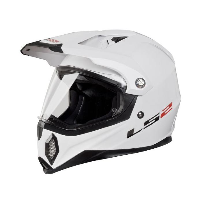 Enduro přilba LS2 MX453 GEARS bílá