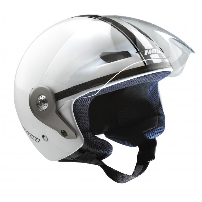 Helma na skútr Nox N605 bílá