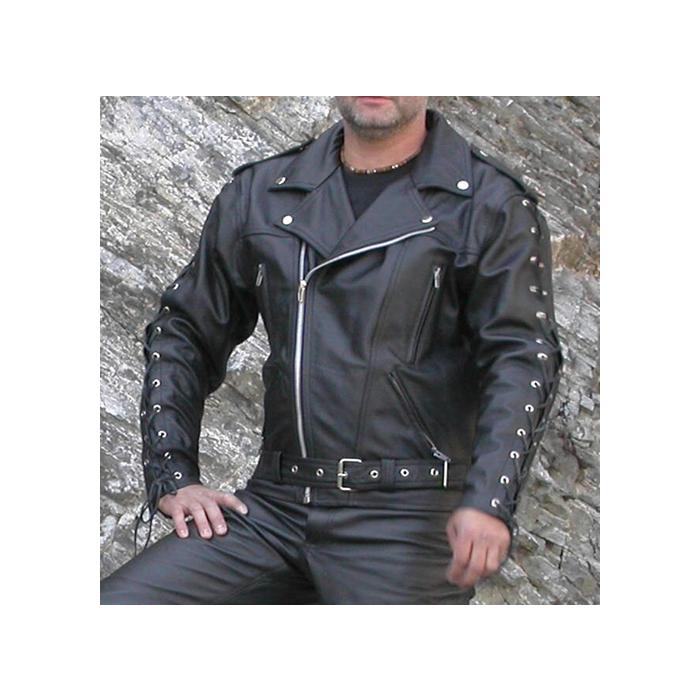 Kožená bunda na chopper F-J- pánská