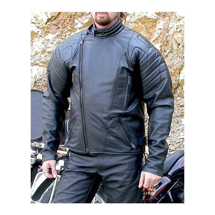 Kožená bunda na moto F-I- Pánská
