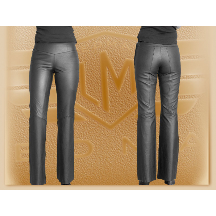 Kožené bederní moto kalhoty Klasik - dámské výprodej