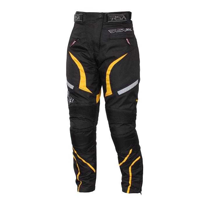 Moto kalhoty RSA Devil dámské žluté výprodej