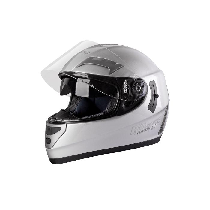 Přilba na motocykl LS2 Combat mono stříbrná