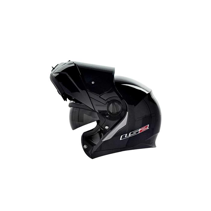 Vyklápěcí přilba na motorku LS2 Ride černá lesklá
