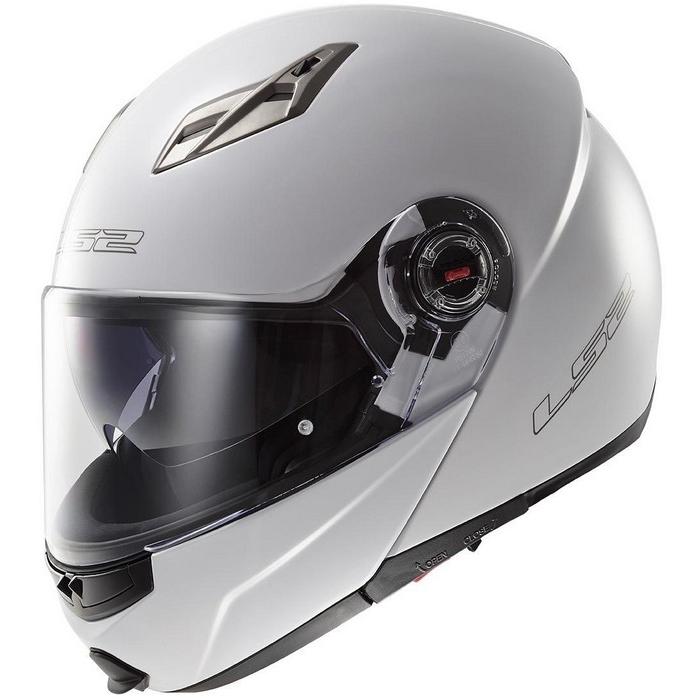Vyklápěcí přilba na motorku LS2 EASY bílá výprodej