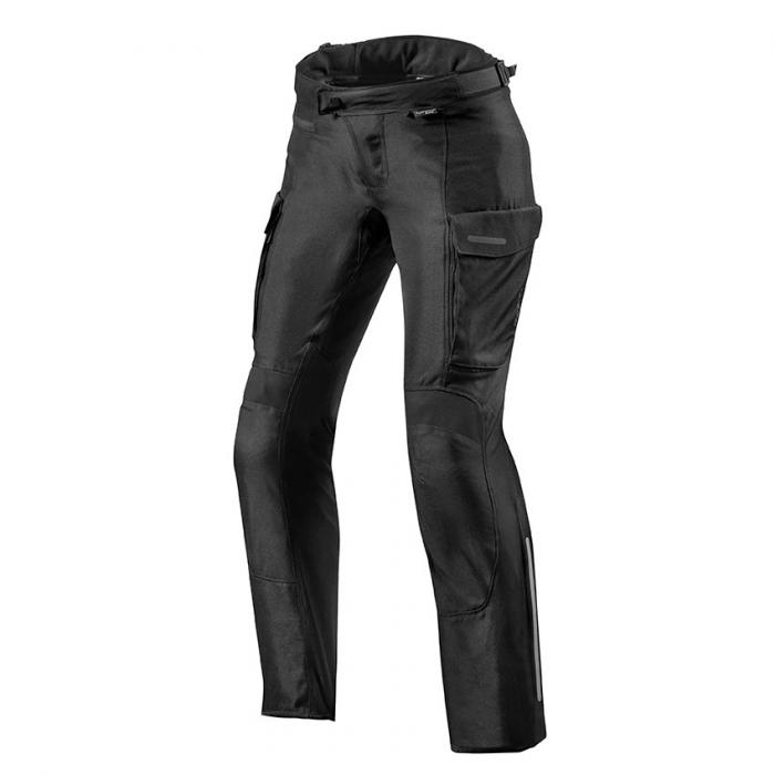 Dámské kalhoty na motorku Revit Outback 3 černé zkrácené