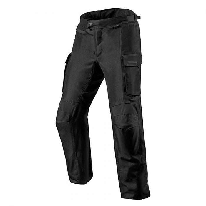 Kalhoty na motorku Revit Outback 3 černé prodloužené