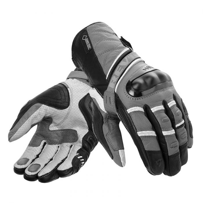 Rukavice na motorku Revit Dominator GTX šedo-stříbrné výprodej