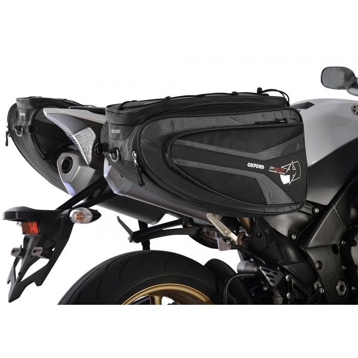 Boční brašny na motocykl Oxford P50R černé výprodej