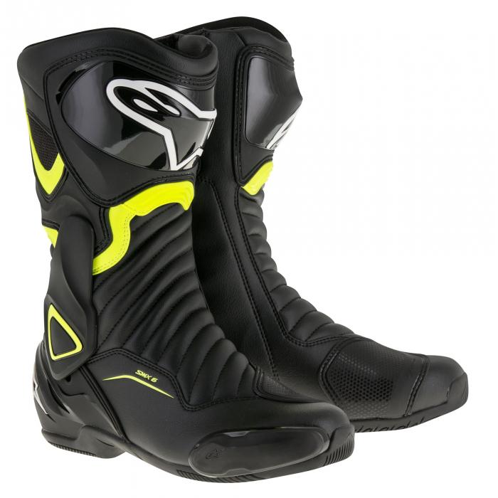 Boty na motorku Alpinestars S-MX 6 černo-fluo žluté