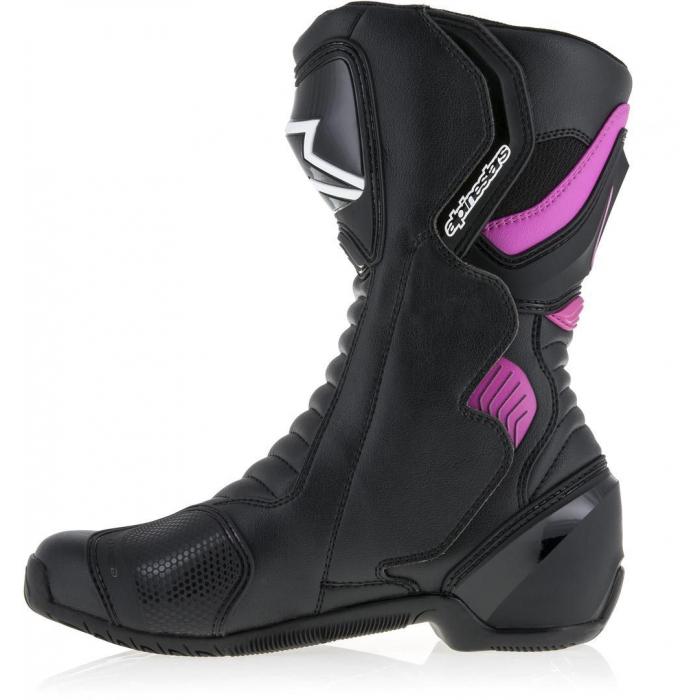Boty na motorku Alpinestars Stella S-MX 6 černo-fialovo-bílé