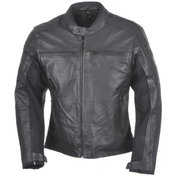 Bunda na motorku Ayrton Classic Leather černá