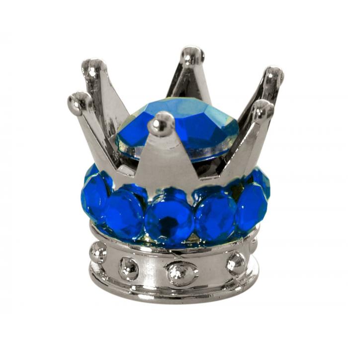 Čepičky na ventilky Oxford Crown stříbrno-modré