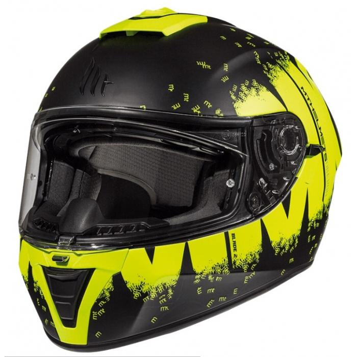 Integrální přilba na motorku MT Blade 2 SV Oberon černo-fluo žlutá výprodej