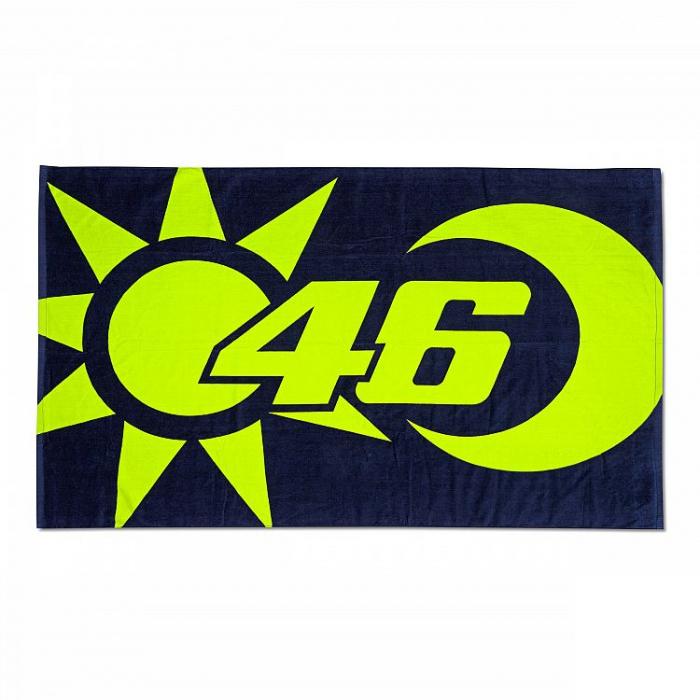 Osuška VR46 Valentino Rossi SUN AND MOON modro-žlutá