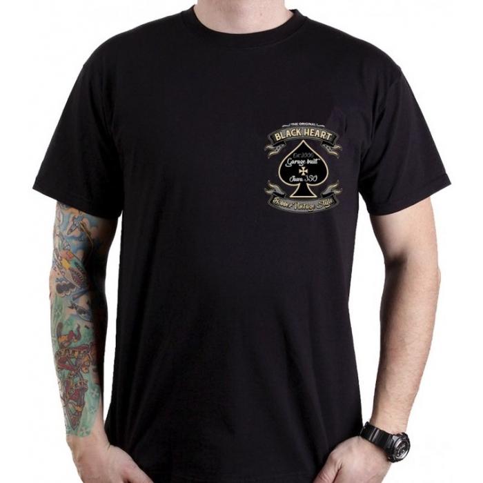 Pánské triko Black Heart Jawa 350