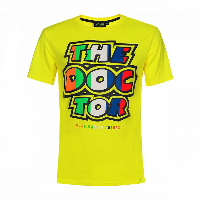 Triko VR46 Valentino Rossi THE DOCTOR žluté