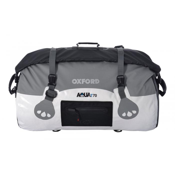 Vodotěsný vak Oxford Aqua70 Roll Bag bílo-šedý